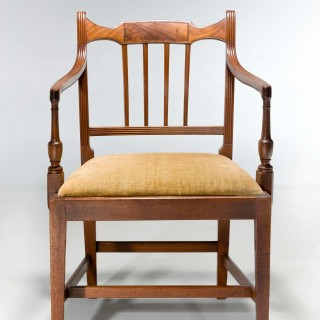 SET OF EIGHT GEORGE III PERIOD DINING CHAIRS (SIX SIDE CHAIRS PLUS TWO ARMCHAIRS)