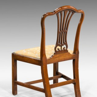 SET OF EIGHT GEORGE III PERIOD DINING CHAIRS WITH CAMEL SHAPED BACKS