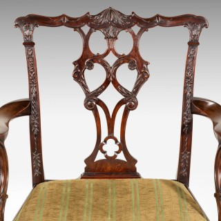 SET of TEN CHIPPENDALE DESIGN MAHOGANY FRAMED CHAIRS