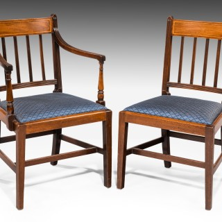 SET of EIGHT GEORGE III PERIOD MAHOGANY DINING CHAIRS