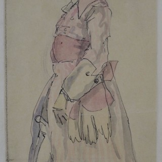 Claud Lovat Fraser - Umberto - Costume Design for La Serva Padrona