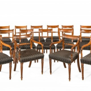 Set of Eighteen Regency period mahogany framed chairs