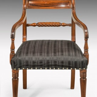 Set of Eighteen Regency period mahogany framed chairs