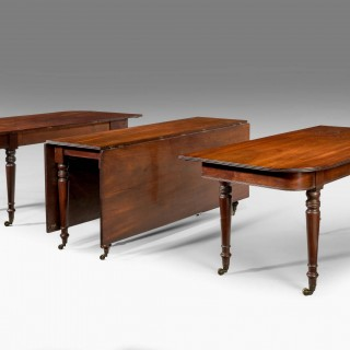 Regency Period Three Part Mahogany Dining Table