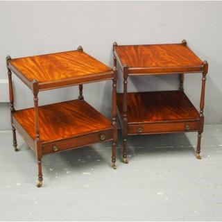 Pair of Georgian Style Mahogany Tables