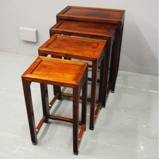 Nest of 4 Chinese Occasional Tables