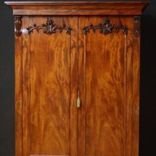 Superb Early Victorian 2 Door Wardrobe in Mahogany