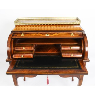 Antique French Louis XV Revival Marquetry Bureau c.1870 19th Century