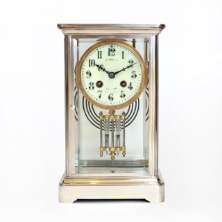 Silver-plated Four Glass Clock – Harrods