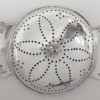 Antique George I Silver Lemon Strainer
