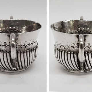 Antique Miniature Silver Porringer
