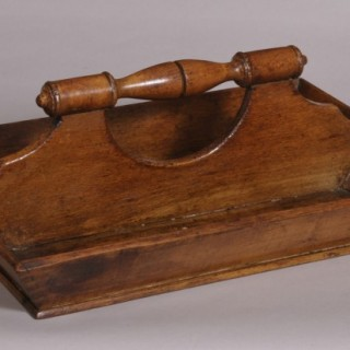 Antique Treen 19th Century Beech Cutlery Tray