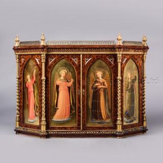 An Italian Renaissance Revival Painted Table Cabinet