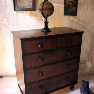 An Estate Made Cherrywood & Mahogany Chest of Drawers c.1870