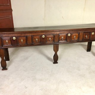 Very Good English Oak Dresser With 4 Drawers All Of Good Colour And Surface C1680
