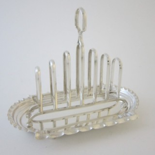 Antique Victorian Sterling silver toast rack