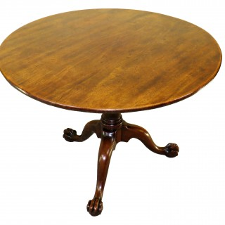 Mid 18th Century English Georgian Mahogany Circular Supper Table