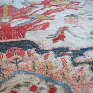 Rare ivory Ziegler carpet