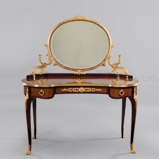 A Transitional Style Amboyna Dressing Table