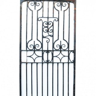 Antique English Wrought Iron Garden / Pedestrian Gate