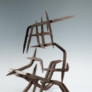 Rare wrought iron sculpture by Marcello Fantoni