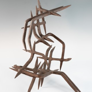 Rare wrought iron sculpture by Marcello Fantoni