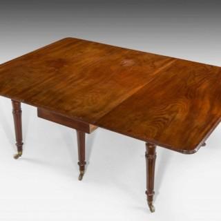 Regency Period Mahogany Dining Table.