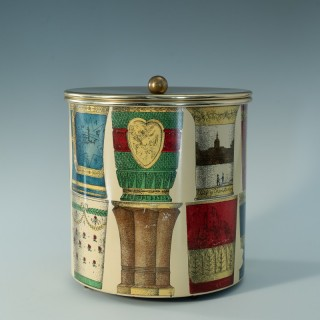 Ice Bucket with Bohemian Glasses design by Piero Fornasetti