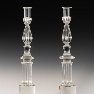 Pair of Seguso candlesticks by John Loring of Tiffany & co.