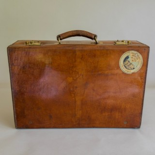 Tan Leather Suitcase
