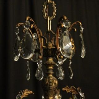 Italian Gilded 16 Light Antique Chandelier