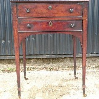 18th Century George III Period Mahogany Antique Bed Side Table / Pot Cupboard / Nightstand