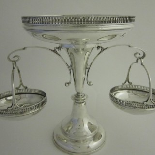 Antique George V Sterling silver centrepiece
