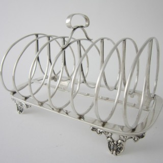 York Antique Sterling silver toast rack