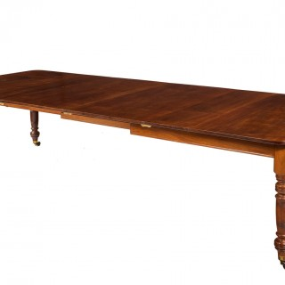 Late Regency Period Square Dining Table