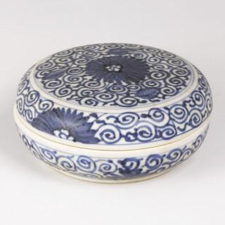 Kangxi Blue and White Jewellery Box