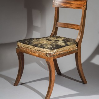Set of Six Regency Klismos Dining Chairs, attributed to Gillows