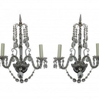 A PAIR OF ENGLISH WALL LIGHTS