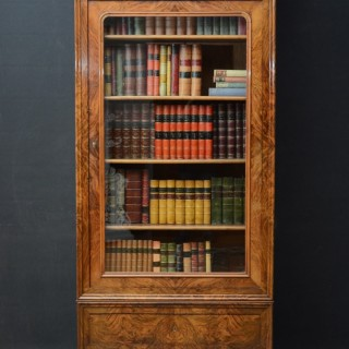 Fine Continental Figured Walnut Bookcase
