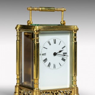 An Early Twentieth Century French Brass Case Carriage Clock