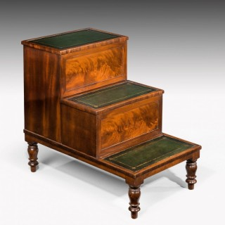 A Good Set of Regency Period Bed Steps