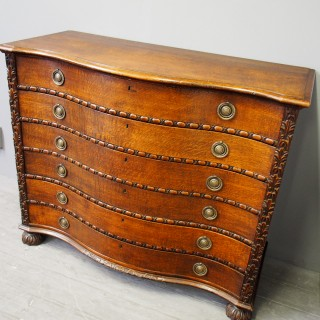 Oak Serpentine Chest of Drawers
