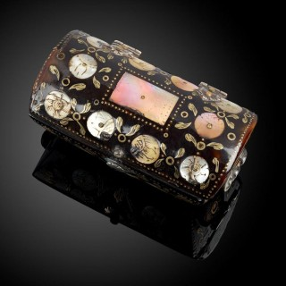 Miniature Tortoiseshell Casket in the Shape of a Cassone
