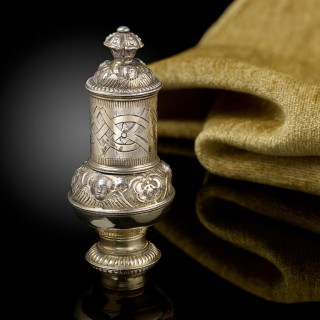 17th Century Silver Gilt Pomander