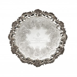 Silver salver of a Hero of Trafalgar: Captain Pryce Cumby