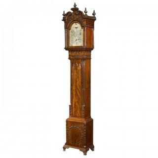 A Mahogany Long Case 'tide' Clock