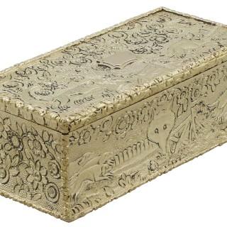 Sterling Silver Gilt Box - Antique George IV (1824)