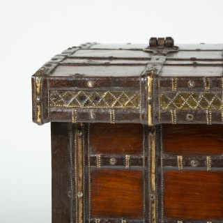 IRON BOUND TEAK TRUNK