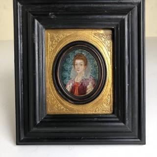 16th century Oil On Copper Portrait Miniature