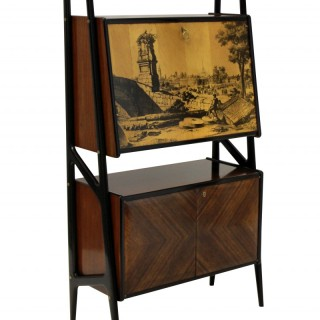 A MID-CENTURY BAR CABINET IN THE MANNER OF GIO PONTI